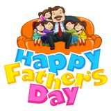Father's Day Background with father and kids Royalty Free Stock Image
