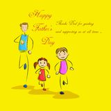 Father's Day Background with father and kids Stock Photo