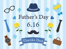 Father`s Day background vector illustration