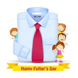 Father's Day Background with Kids Stock Image