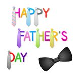 Father's Day Background with Tie Royalty Free Stock Images