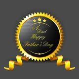 Father's Day Badge Stock Image