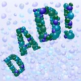 Father's Day balloons Stock Images