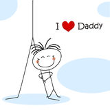 Father's day card Stock Images