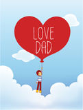 Father's Day Card Royalty Free Stock Images