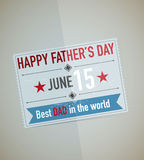 Fathers Day Card. Abstract Design Stock Image