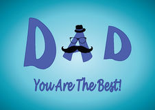 Father's day card-Best Dad Royalty Free Stock Photos