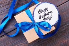 Father`s Day card and gift. Stock Photo
