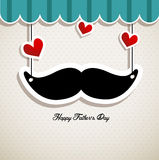 Father's day card vector illustration