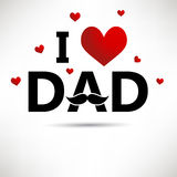 Father's day card Royalty Free Stock Image
