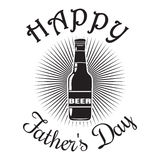 Father's Day card. Happy Father's Day. Beer bottle icon Royalty Free Stock Photos