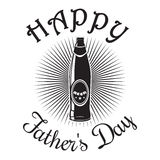 Father's Day card. Happy Father's Day. Beer bottle icon Stock Photography