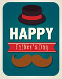 Father's Day Card. Happy fathers day card Stock Photos