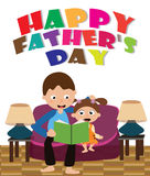 Father`s Day card. Learning start at home and everybody first teacher is parents Royalty Free Stock Images