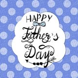 Father`s Day Card with lettering inscription Stock Image