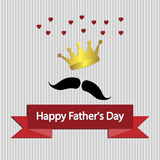 Father's Day card , with mustache. Royalty Free Stock Photo