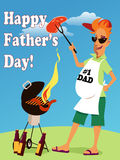 Father's Day Card template Royalty Free Stock Images