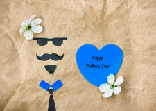 Father`s day concept greeting card Royalty Free Stock Images