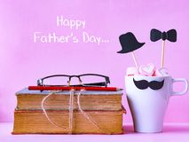 Father`s day concept. LOVE DAD alphabet royalty free stock images