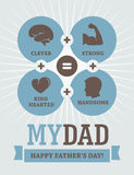 Father's Day creative design Royalty Free Stock Photo