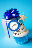 Father's day cupcake stock image
