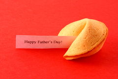Fortune Cookie on Red Royalty Free Stock Images