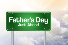 Father's Day Green Road Sign Stock Photo