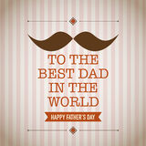 Fathers day greeting card Stock Image