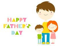 Happy Father`s day greeting cards Royalty Free Stock Photography