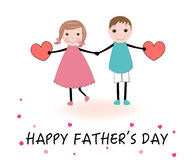 Father's Day greeting card with fabric texture patterns Royalty Free Stock Photos