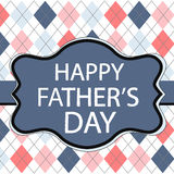 Father's Day greeting card with fabric texture patterns Stock Images