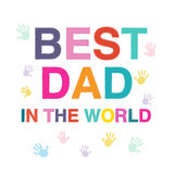 Father's Day greeting card with hand prints Royalty Free Stock Images