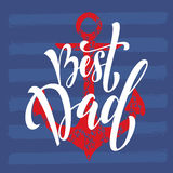 Father's Day greeting card title. Royalty Free Stock Photography