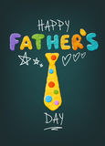 Father`s Day Greeting. Vector Cute Father`s Day Greeting With Realistic Clay Tee Decoration Royalty Free Stock Images