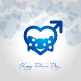 Happy fathers day greeting card vector illustration royalty free illustration