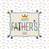 Happy fathers day greeting card vector illustration vector illustration