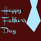 Father's Day. Happy fathers fay in brown background and blue fonts Stock Images