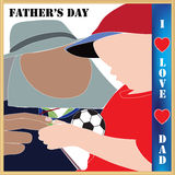 Father's day I love Dad Royalty Free Stock Photography