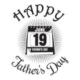 Father's Day icon. Happy Father's Day lettering. Calendar Royalty Free Stock Photos