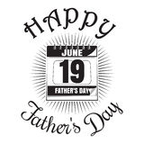 Father's Day icon. Happy Father's Day lettering. Wall calendar Royalty Free Stock Photography