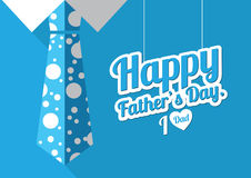 Father, s day illustration. For card print Stock Photo
