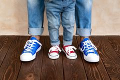 Father`s Day International Holiday Concept. Man and child at home. Father and son having fun together. Family holiday concept. Happy Father`s day stock photo