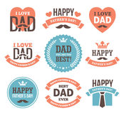 Father's Day Labels and Signs Royalty Free Stock Image