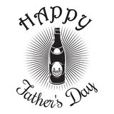 Father's Day logo design. Happy Father's Day. Beer bottle icon i Stock Photo