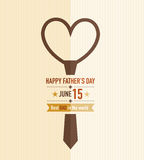 Fathers Day Love Tie. Fathers day tie card abstract design Royalty Free Stock Photo