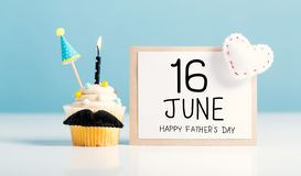 Father`s day message with a cupcake royalty free stock image