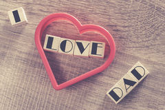 Father's Day message Stock Image