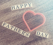Father's Day message Stock Photography