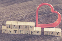 Father's Day message. Written on wooden blocks royalty free stock image