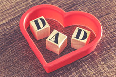 Father's Day message Royalty Free Stock Photography